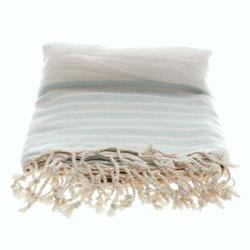 stripped mint white hammam towel