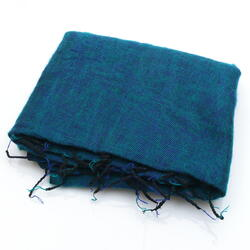 Ocean Blue and Green Yak Shawl from Nepal Women Cooperative