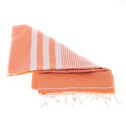 orange cotton hammam towel