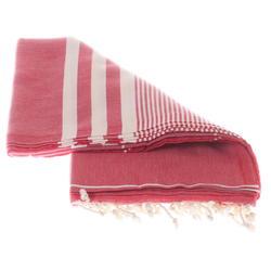 Red hammam cotton towel made in Turkey