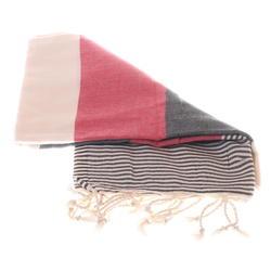 Red grey stripped hammam towel