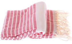 Marmara style 100% cotton hammam towel in red