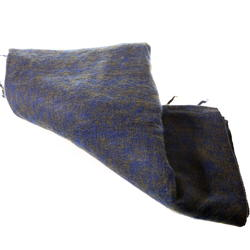 Yak and Wool Schawl from Nepal - Blue Olive