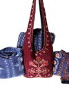 embroidered lama bags from Nepal cooperative local women's handicraft
