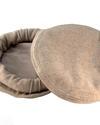 pakol in beige colour from Pakistan - fair trade - 100% wool