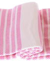 Marmara style 100% cotton hammam towel in pink